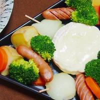 カマンベールチーズでお手軽! 温野菜のチーズフォンデュ