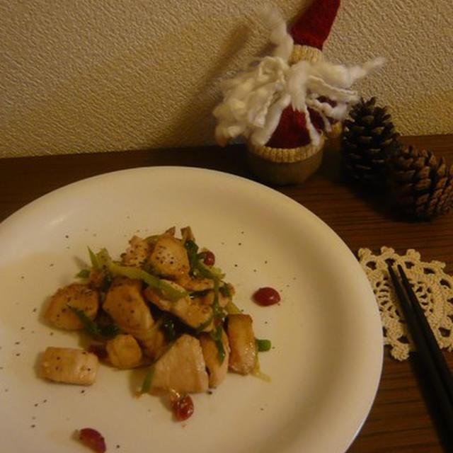 鶏肉の梅炒め