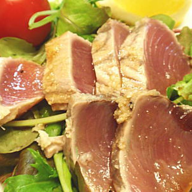 鰹(かつお)のマリネ風たたきサラダ(レシピ付)
