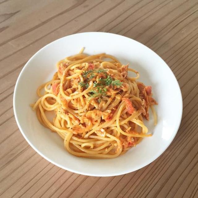 桜えびのトマトクリームスパゲッティー