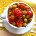 ひよこ豆とミニトマトのスパイシーソテー♡