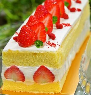 苺のショートケーキ フレジェ風♪クリスマスケーキにも