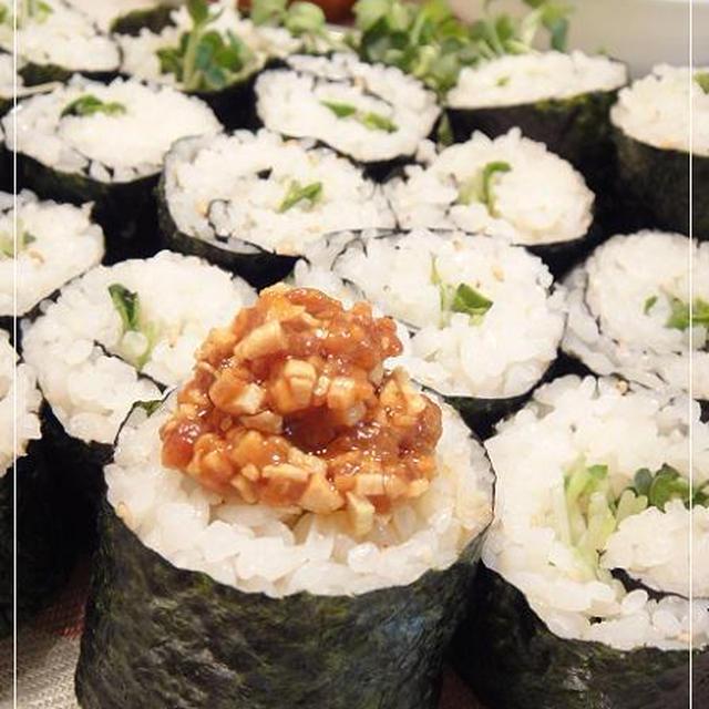 具入りラー油かけ巻き寿司