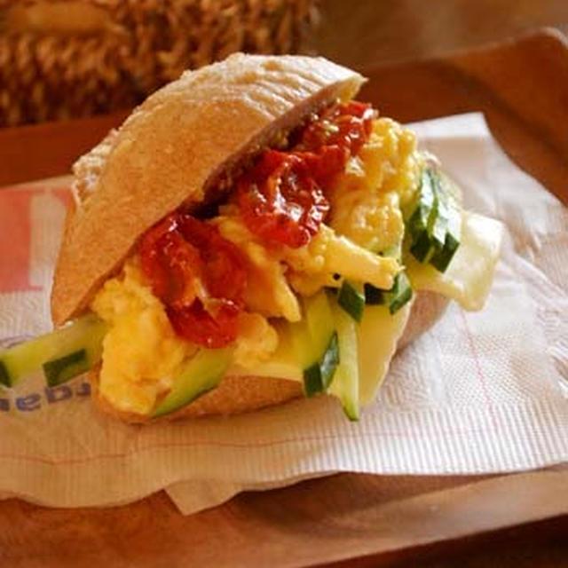 朝のサンドイッチ