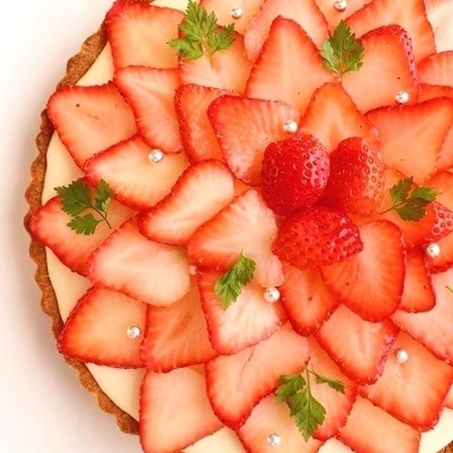 たっぷり苺のチーズケーキタルト*レシピ