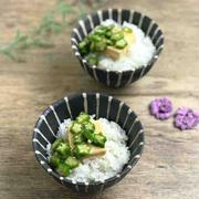 【レシピ】クリームチーズとオクラの麺つゆ漬け