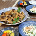 ◆手羽先の黒酢煮と自家製ツナとゴーヤのサラダ♪ by fellowさん
