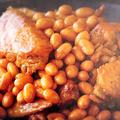 鳥手羽先と大豆の煮物