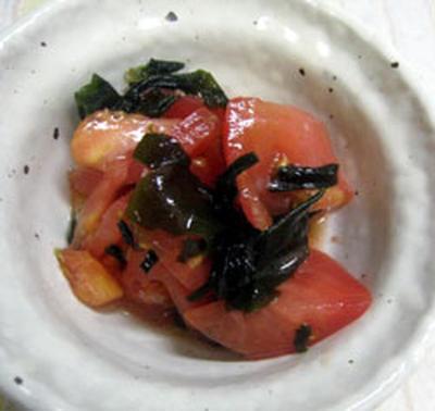 トマトとわかめのマリネ風