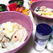 牡蠣とジャガイモのミルクスープ