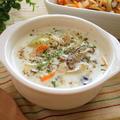 後は牛乳を入れるだけ!野菜たっぷりスープの素