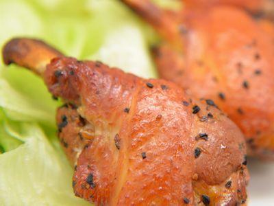 鶏チューリップの熱燻製