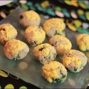 菜の花とベーコンの手まり寿司