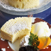 ■メロンカフェママさんの 【レンジで簡単!!シフォンケーキ】の つくれぽです♪