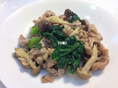 ご飯が進む♪豚肉と小松菜の生姜炒め