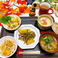薩摩芋と舞茸の豚肉炒め/風邪引きバトンリレー(涙)