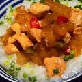 大根と鶏肉のザーサイ中華炒め粥
