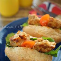 3ステップで簡単!たっぷり野菜のパプリカチキンサンド