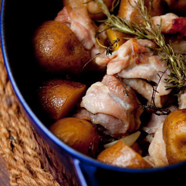 塩麹鶏とじゃが芋のオーブン焼き(再)☆ ストウブで