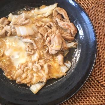豚こまと白菜のピリ辛卵とじ【レシピブログ】