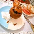 """焼き梨 """"Baked Pear"""" ★ with レーズン, ドライフィグ and ピーカンナッツ"""