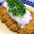 おろし豚カツ<麺つゆの煮汁をくぐらせます>