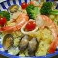 フライパンで海鮮パエリア! by watakoさん