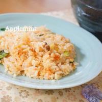 【瓶詰使用で簡単!パラパラ炒飯】鮭フレークとレタスの炒飯