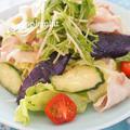 暑い日のワンプレート♪豚肉と夏野菜の冷しゃぶサラダごはん by アップルミントさん