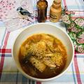 鯖の味噌煮缶の お手軽キムチスープ