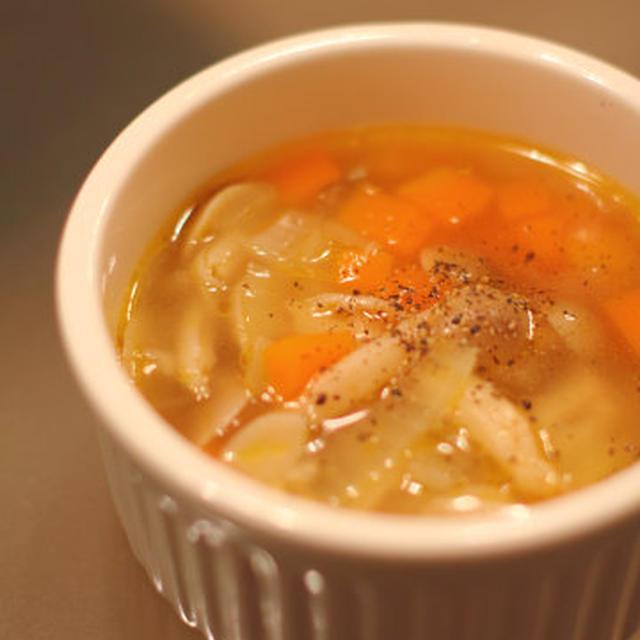 ぶなしめじのマーガリンスープ