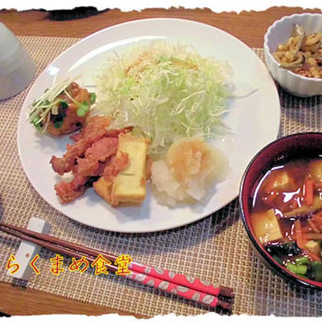 鶏肉団子定食♪