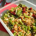 【ピクニックのお弁当にぴったり!】麦とサヤインゲンのサラダ