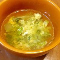 朝食やランチに♪混ぜ込みわかめで、中華風スープ
