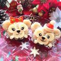 ツムツム★ダッフィー&シャリーメイのクリスマス【キャラ弁】