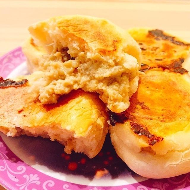 【ヘルシーパン】発酵不要&フライパンで!甘くてとろ〜り米粉と豆乳のバナナクリームパン