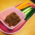 【ホットクック】野菜スティックが止まらない!公式レシピ「肉みそ」が絶品すぎる