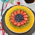父の日や夏にピッタリ!フルーツたっぷりバニラレアチーズケーキ