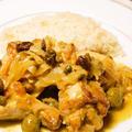 ほんのりカレー風味 鶏肉のモロッコ風バターライス添え
