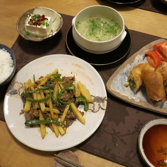 我が家の『鉄板中華』の晩ご飯 と 冬の準備♪
