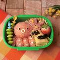 4歳次男の遠足弁当~「材料4つ★タコのデコおにぎり弁当」