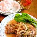 豚ロースのマッシュルームソース ~ タイムの香りで焼いて♪ by mayumiたんさん
