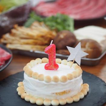 息子1歳のお祝い♡