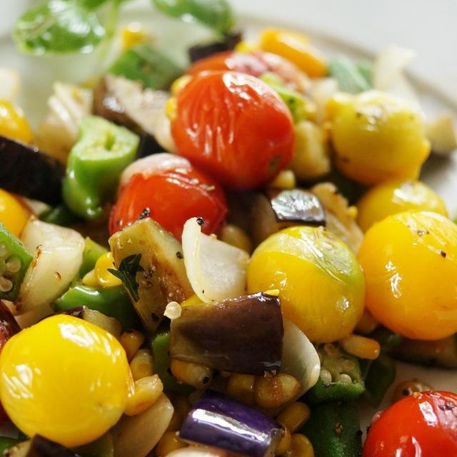 簡単5分で 凄く美味しい!!【菜園野菜だけで イタリアン】です♪
