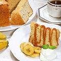 初めて作るバナナシフォンケーキとバナナのフランベ&キャラメルソース♪ by HiroMaruさん