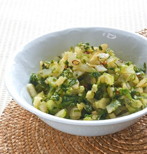 香味野菜でピリ辛!セロリのエスニックきんぴら。