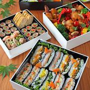 運動会のお弁当2015☆4種のおにぎらず&小学校の運動会