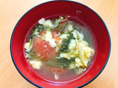 生めかぶとトマトの中華スープ by わかめちゃんさん