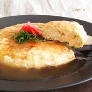 ちくわ入り豆腐と卵のビッグオムレツ中華あんかけ☆簡単※節約♪
