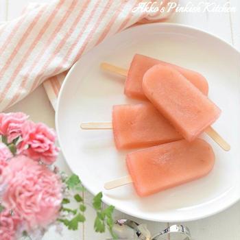 【おもてなし】まるでコンビニの『男梅』!激ウマ♡梅肉とアセロラのアイスキャンディー